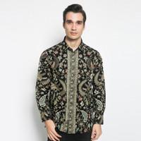 Alisan Kemeja Lengan Panjang Batik Reguler Hijau BTKRG10464LS