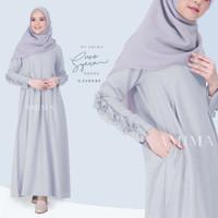 Syera Dress Cloudy L by Amima Gamis Only katun madina adem polos