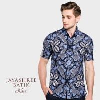 Jayashree Batik Slimfit Kavi Short Sleeve Pria