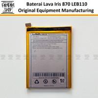 Baterai Lava Iris 870 LEB110 LEB 110 Original OEM Batre Ori HP LEB-110
