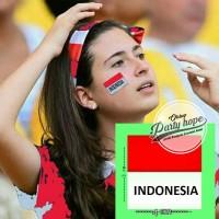 Stiker pipi merah putih / sticker pipi bendera Indonesia / karnaval