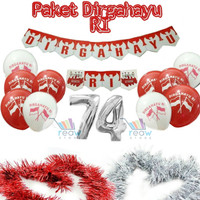 Paket Dekorasi Hiasan Balon Dirgahayu HUT RI 17 AGUSTUS Merah Putih