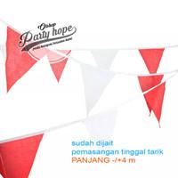 bendera segitiga merah putih/ bendera umbul umbul karnaval HUT RI kain