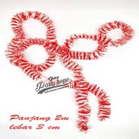 slinger merah putih / hiasan lomba agustus / slinger karnaval HUT RI