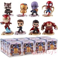 Figure Avengers Cosbaby Chibi ironman Thor Thanos Spiderman end game