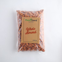 MAMISEED Whole Almond 1kg - Kacang Almond Utuh (Raw- Mentah)