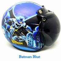 HELM HALF FACE HELM INK Helm Bogo Anak 1 6 Tahun Bogo Batman Blue Kac