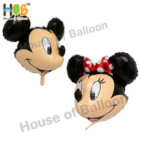 Balon Karakter Foil Kepala Mickey Minnie Head 3D 4D JUMBO Besar