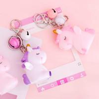 gantungan kunci heart unicorn pendant key chain agk017