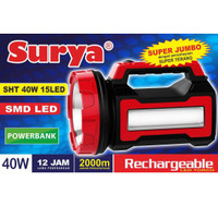 Senter lampu LED Surya SHT 40W Emergency 15LED White/Putih
