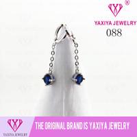 Anting Permata Emas putih Perhiasan imitasi 18K Yaxiya Jewelry 088