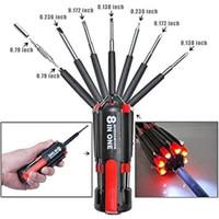 Obeng Multifungis 8 in one Multi-Screwdriver Torch Obeng Flashlight