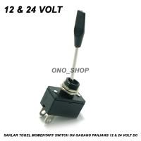 Saklar Togel Momentary Switch On Gagang Panjang 12 & 24 Volt DC