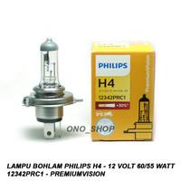 Lampu Philips H4 - 12 Volt 60/55 Watt 12342PRC1 - PremiumVision