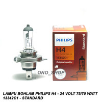 Lampu Philips H4 - 24 Volt 75/70 Watt 13342C1 - Standard