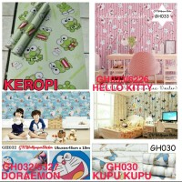 WALLPAPER DINDING STICKER DINDING / WALLPAPER MOTIF 45 X 10 CM