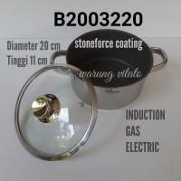 BIMA ORIGIN NON STICK SAUCEPOT 20 CM STONEFORCE COATING B2003220