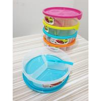 Kotak Makan + Sendok OYAMA Clio / Lunch Box Catering Bulat Souvenir
