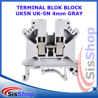 TERMINAL BLOK BLOCK UK5N UK-5N DIN RAIL 41A 4mm GRAY ABU-ABU 24-10 AWG