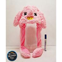Topi Bunny Hat Pig