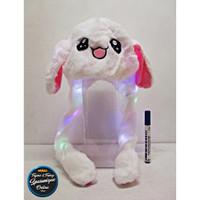 Topi Bunny Hat Kelinci Led Dancing Putih #2