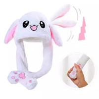 Topi Boneka Bunny Hat Non LED - Rabbit Hat Dance / Topi Bergerak