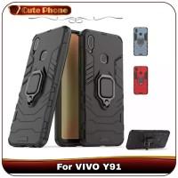 Casing VIVO Y91 Y 91 Ironman Armor Ring Hard Soft Case iRing Premium