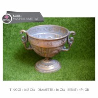 vas piala metal gold