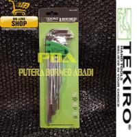 TEKIRO Kunci L Set Panjang 8 pcs (2 - 10mm) ITEM CODE HK-LS1200
