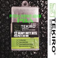TEKIRO MATA OBENG KETOK PH-2 [+]. IMPACT DRIVER BITS SET 12 PCS. Kode