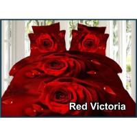 Sprei Fata Signature Red Victoria - Ukuran 160x200 180x200