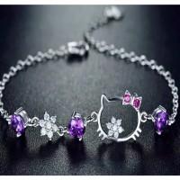 Gelang Wanita Perak Silver 925 Import GS011 Fashion Korea High Quality