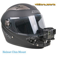 Mounting Helm Helmet Chin Mount GoPro YI Action Cam Helm Curved Mount