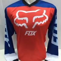 Kaos jersey sepeda-baju kaos motor cross fook merah biru 1035