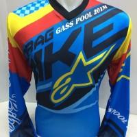 kaos jersey Sepeda -kaos motor cross drag bike gas poll astars