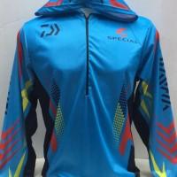 Kaos jersey Mancing daiwa -baju kaos mancing mania daiwa biru