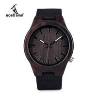 BOBO BIRD Jam Tangan Kayu Analog Pria - B12 - Black