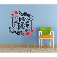Stiker Cutting Home sweet Stiker Dinding Kaca Hiasan Dinding D9