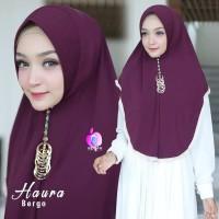 Jilbab Khimar Jersey Haura Bergo Ori Apple Hijab