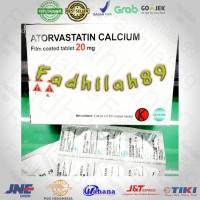 Obat Kolesterol - Atorvastatin. 20 Mg Dexa. OGB Per Strip ORIGINAL