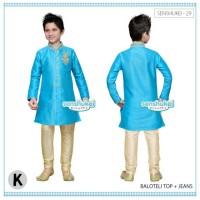Baju Koko india anak biru 2 Tahun