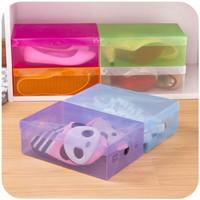 JN Kotak Sepatu Transparan Warna Warni