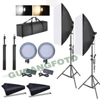continous softbox led lighting kit video light with charger