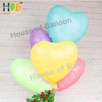 Balon Foil Hati Heart Macaron Pastel Dop Dof Doff 45 cm / 18 Inch