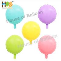 Balon Foil Round Bulat Macaron Pastel Dop Dof Doff 45 cm / 18 Inch