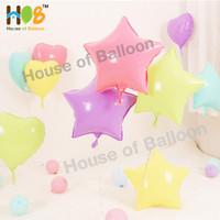 Balon Foil Star Bintang Macaron Pastel Dop Dof Doff 45 cm / 18 Inch