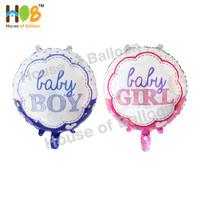Balon Foil Bulat Baby Boy Girl Bayi Baby Shower