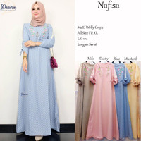 grosir baju nafisa dress wollycrepe