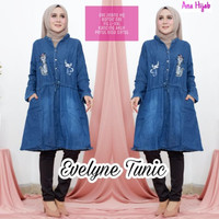 grosir atasan evelyn tunik jeans