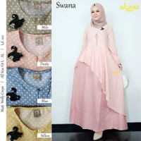 grosir baju swana dress wollycrepe